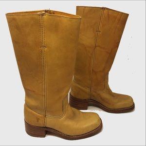 Frye vintage campus golden sunrise leather boots